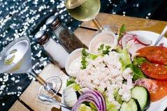 Het dineren op de Baai Stock Foto's