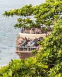Het dineren op de waterkant in Jimbaran-Baai Bali royalty-vrije stock foto's