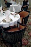 Het dineren reeks in hotel Royalty-vrije Stock Foto's