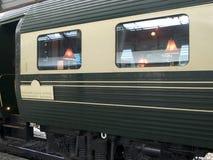 Het dineren van de luxe spoorwegauto Royalty-vrije Stock Afbeeldingen