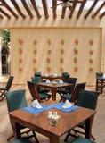 Het Dineren van het Terras van het restaurant Stock Foto's