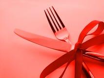 Het dineren van Kerstmis Royalty-vrije Stock Afbeeldingen