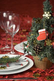 Het dinerlijst van Kerstmis royalty-vrije stock foto