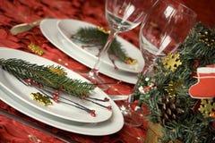 Het dinerlijst van Kerstmis royalty-vrije stock foto's