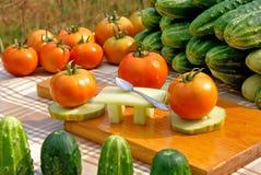 Het dinerpartij van groenten stock afbeelding