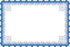 Het diploma of het certificaat van de grens. Stock Foto's