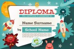 Het diploma van certificaatjonge geitjes royalty-vrije illustratie