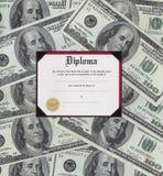 Het diploma van de graduatie Royalty-vrije Stock Afbeelding