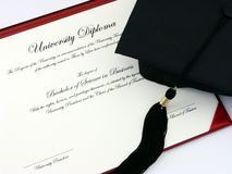 Het Diploma van de universiteit Royalty-vrije Stock Foto