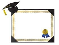Het Diploma van de universiteit met GLB en leeswijzer Royalty-vrije Stock Foto's