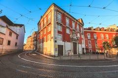 Het district van Alfama portugal royalty-vrije stock fotografie