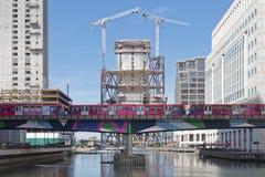 Het District van Canary Wharf Londen Royalty-vrije Stock Afbeelding