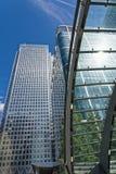 Het District van Canary Wharf Londen Stock Foto
