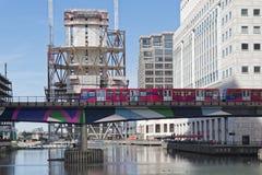 Het District van Canary Wharf Londen Royalty-vrije Stock Afbeeldingen