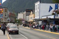 Het District van de toerist in Juneau Van de binnenstad Alaska Stock Foto's