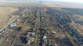 Het District van dorpselitnyy Krasnoarmeyskiy, Krasnodar Krai, Rusland Het vliegen bij een hoogte van 100 meters De ruïne en de v Royalty-vrije Stock Fotografie