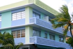 Het district van het Art deco van het Strand van het Zuiden van Miami Stock Fotografie