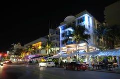 Het District van het Art deco van het Strand van Miami Stock Afbeelding