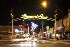 Het District van het Fremontoosten, Las Vegas, de V.S. Royalty-vrije Stock Afbeelding