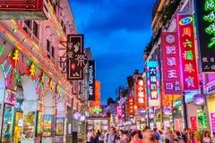 Het District van het Guangzhounachtleven stock fotografie