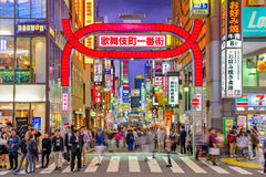 Het District van het Shinjukurode licht Royalty-vrije Stock Foto's