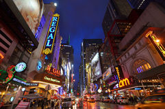 Het District van het theater, de Stad van Manhattan, New York Stock Foto's