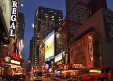 Het district van het theater, de Stad van New York Royalty-vrije Stock Foto