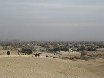 Het district van Kaïro van Giza dichtbij de piramides stock afbeelding