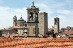 Het district van La Citta Alta van Bergamo Royalty-vrije Stock Afbeelding
