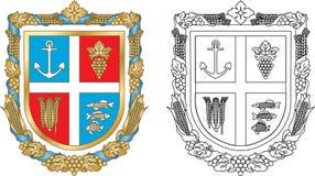 Het district van Reni van het embleem van de Oekraïne Stock Afbeelding