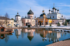 Het district van Voznesenskayadavidova Pustyn Chekhov van historische en culturele monument het van Rusland, van geschiedenis Stock Foto