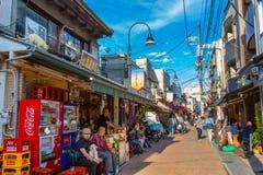 Het district van Yanakaginza in Tokyo, Japan royalty-vrije stock foto's