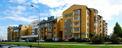 Het districts nieuw huis van Pasilaiciai van de Vilniusstad stock fotografie