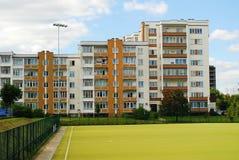 Het districts nieuw huis van Seskine van de Vilniusstad stock foto
