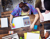 Het diverse Concept van Architectenpeople group working stock afbeelding