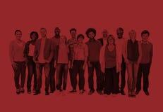 Het diverse Concept van de Vriendschaps Vrolijke Mensen van het Mensengeluk Royalty-vrije Stock Afbeelding