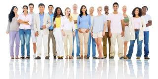 Het diverse Globale Communautaire Concept van Groepsmensen Stock Fotografie