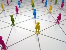 Het diverse Sociale Net van het Netwerk Stock Afbeeldingen