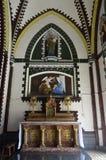 Het dividend is het feebeeld St Mary ` s Kathedraal, Yangon royalty-vrije stock foto
