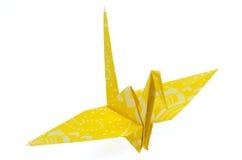 Het Document dat van de origami Kraan vouwt stock foto