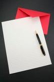 Het document en de envelop van de brief Royalty-vrije Stock Afbeeldingen
