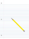 Het document en het potlood van het notitieboekje Stock Foto's