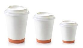 Het document haalt koffiekoppen weg Royalty-vrije Stock Fotografie