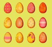 Het document met verwijderd effect voor gelukkige Pasen verfraait Eieren geplaatst ontwerpachtergrond Witte achtergrond Stock Afbeelding
