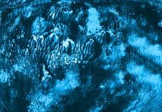 Het document textuur van het achtergrond grunge donkere fee bos blauwe Behang van het de kunstontwerp van de borstelverf binnenla stock illustratie