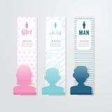 Het Document van bannermensen Malplaatje kan gebruik voor uw ontwerp zijn Vector Royalty-vrije Stock Afbeelding