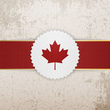 Het document van Canada Kenteken met rood Lint stock illustratie