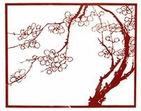 Het document van China de Draak Phoenix van de BESNOEIING Royalty-vrije Stock Afbeelding