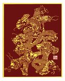Het document van China de Draak van de BESNOEIING Royalty-vrije Stock Afbeeldingen