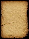 Het document van Crumled met besnoeiingen stock foto's